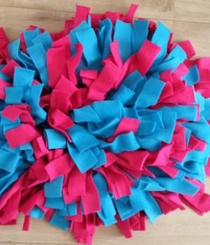 Snuffelkussen M - Blauw Roze