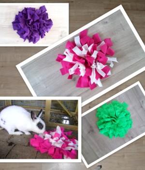 Snuffelkussen maat XS is de kleinste snuffelmat variant en ideaal voor knaagdieren. Laat ook uw hamster of konijnen snuffelen naar snoepjes of zijn voer!