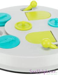 Trixie flipboard voor konijnen in wit, lime groen en turquoise