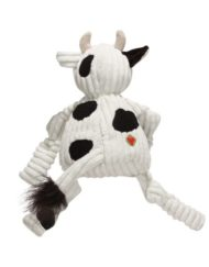 Knottie koe hugglehounds zwart wit achterzijde