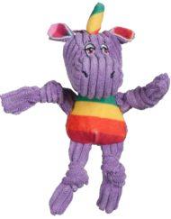 Knottie unicorn hugglehounds paars vooraanzicht