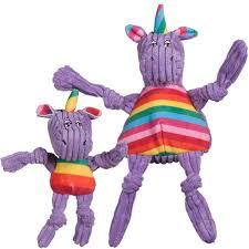 Knottie unicorn hugglehounds paars maat M en L vooraanzicht