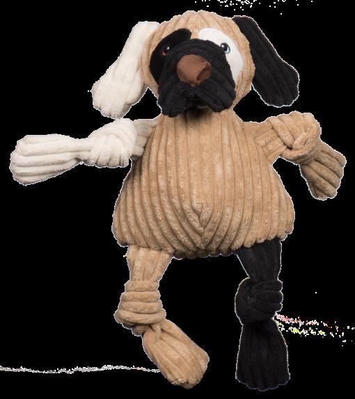knottie hond hugglehounds maat L bruin, creme, zwart