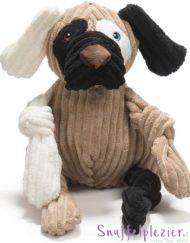 HuggleHounds knottie hond maat L bruin, creme, zwart