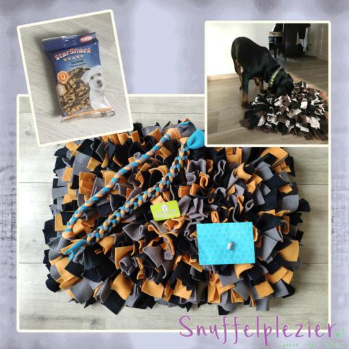 Puppypakket maat L speeltouwen en snoepjes