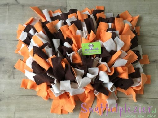Snuffelkussen M Oranje-Bruin-Creme