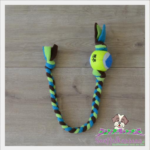 speelbal - speeltouw met bal eraan, in de kleuren naar wens