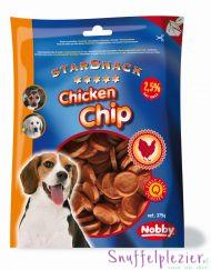 Nobby chip ronde tussendoor snoepjes voor je hond.
